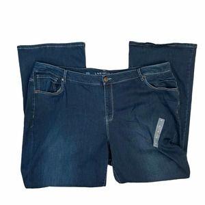 Lane Bryant Mid Rise Boot Dark Wash Bootcut Jeans